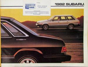 1982 Subaru 1600 1800 STD DL GL GLF Sales Brochure Original