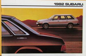 1982 Subaru Hardtop Sedan Hatchback Wagon Color Sales Brochure Original