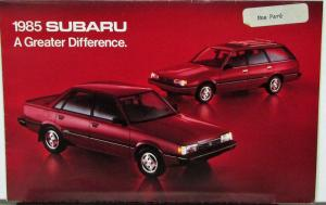 1985 Subaru Brat Hatchback Turbo Sedan Wagon Sales Folder Original