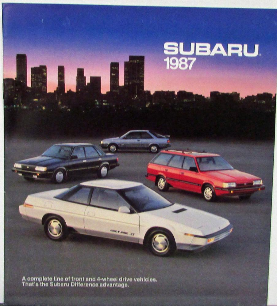 1987 Subaru XT Wagon Sedan 3 Door Coupe Hatchback Brat Justy Sales Brochure