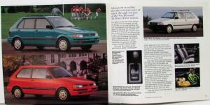 1992 Subaru SVX Legacy Loyale Justy Color Sales Brochure Original