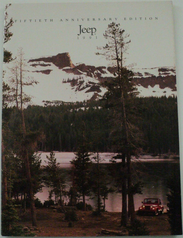1991 Jeep Fiftieth Anniversary Edition ORIGINAL Sales Brochure