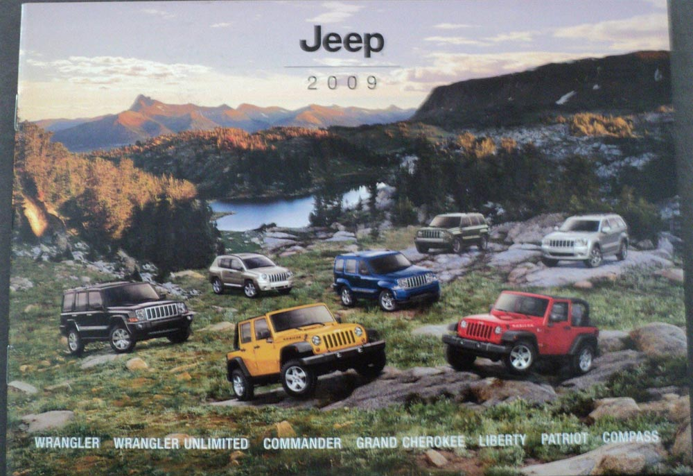 2009 Jeep Wrangler Commander Cherokee Liberty Patriot Compass Sales Brochure