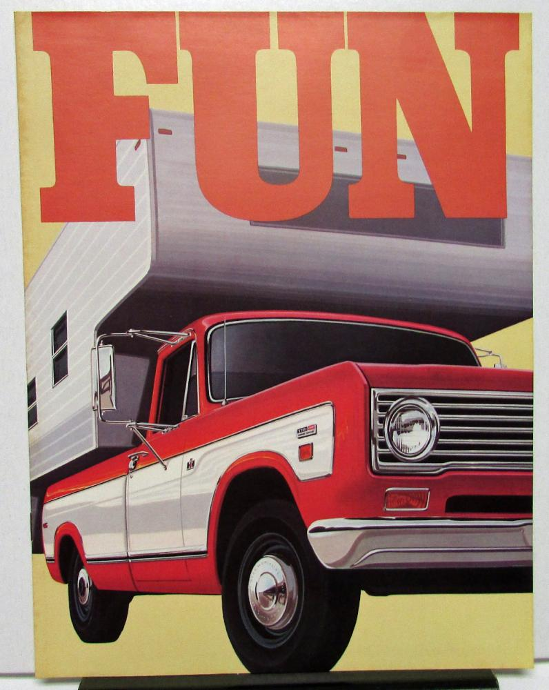1973 International IH Trucks Dealer Brochure Recreational Vehicles Camper  RV Tow