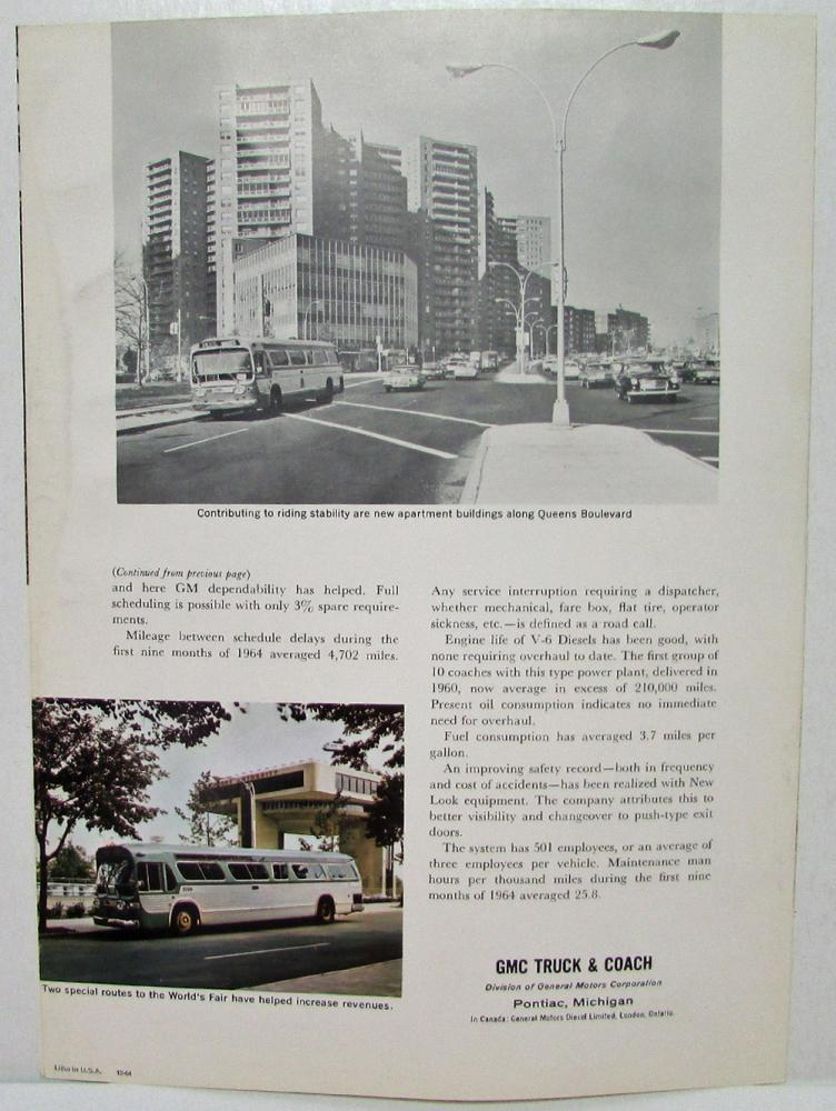 1965 GMC Trucks and Coach The Green Bus Story Sales Folder