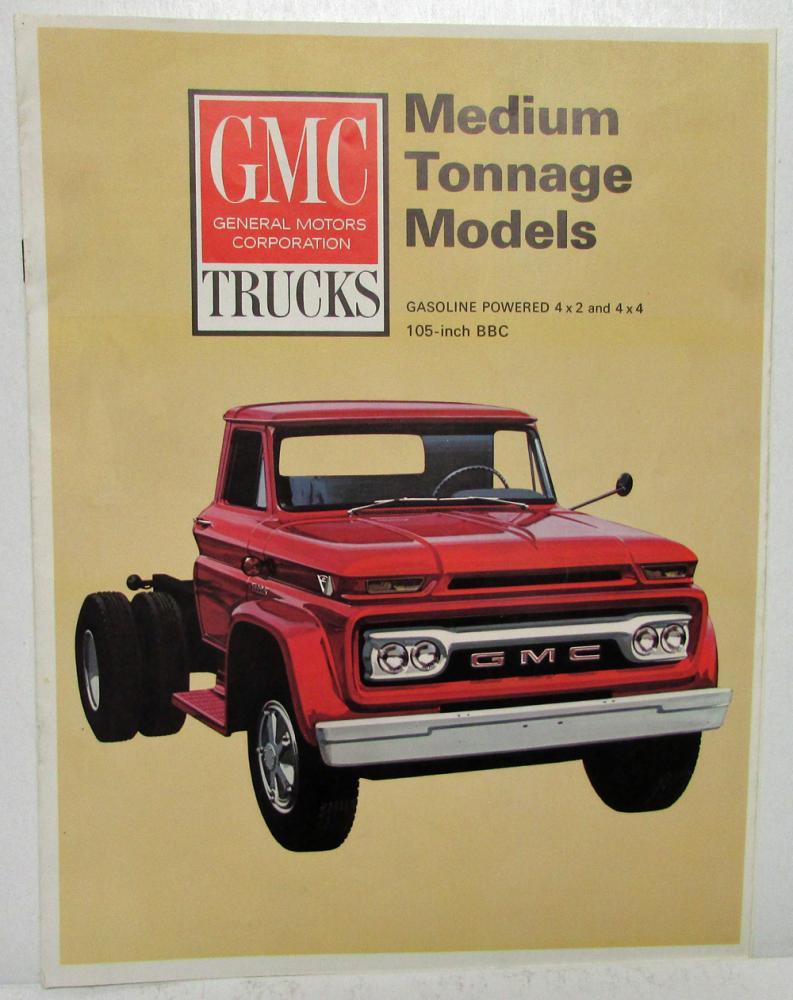 1966 GMC Trucks Gasoline Medium Tonnage Models Sales
