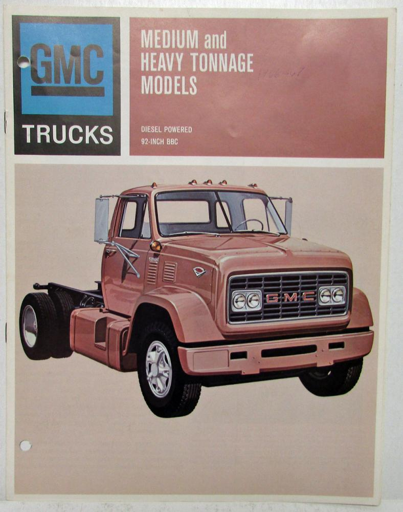 1967 GMC Trucks Diesel Medium and Heavy Tonnage Models Sales