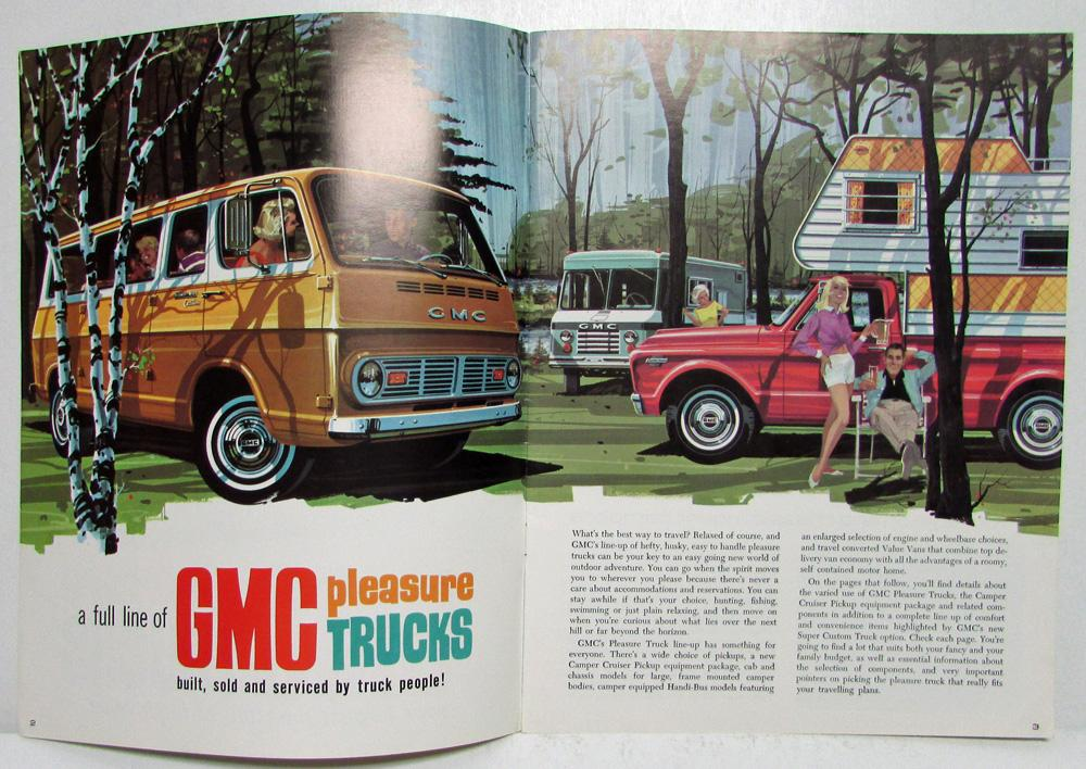 796ed632ed17e3 1967 GMC Pleasure Trucks Your Largest Measure of Truck Value Sales Brochure