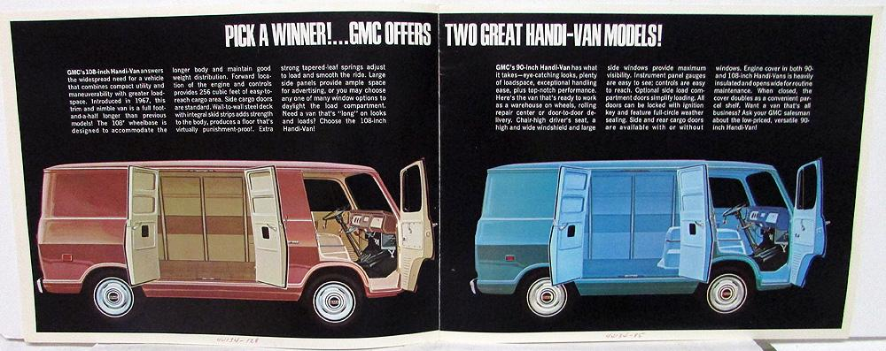 4c84b29e436fe8 1968 GMC Trucks Handi-Van and Handi-Bus Models Sales Brochure