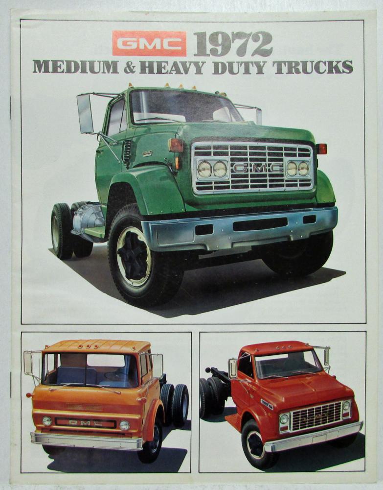 1972 gmc medium heavy duty trucks sales brochure canadian