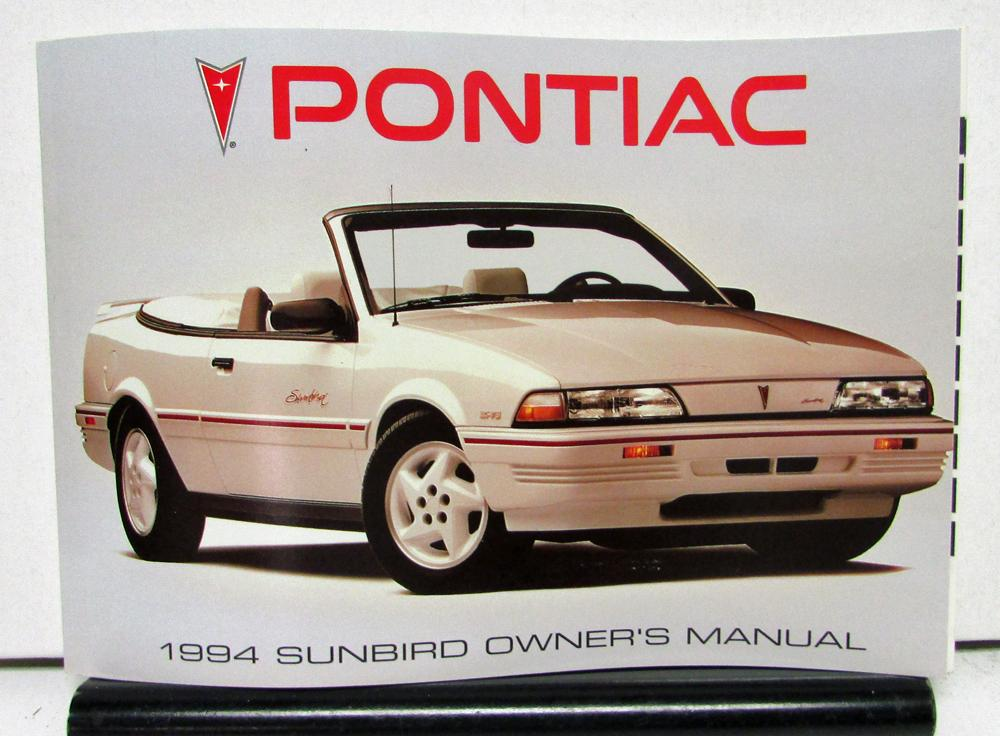 1994 pontiac sunbird operator owner manual original rh autopaper com 1996 Pontiac Bonneville 1996 Pontiac Bonneville