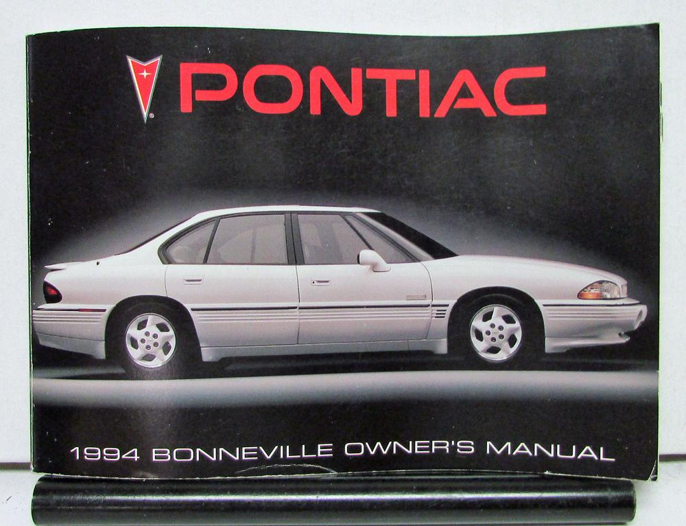 1994 pontiac bonneville operator owner manual original rh autopaper com 1997 Pontiac Bonneville 1997 Pontiac Bonneville