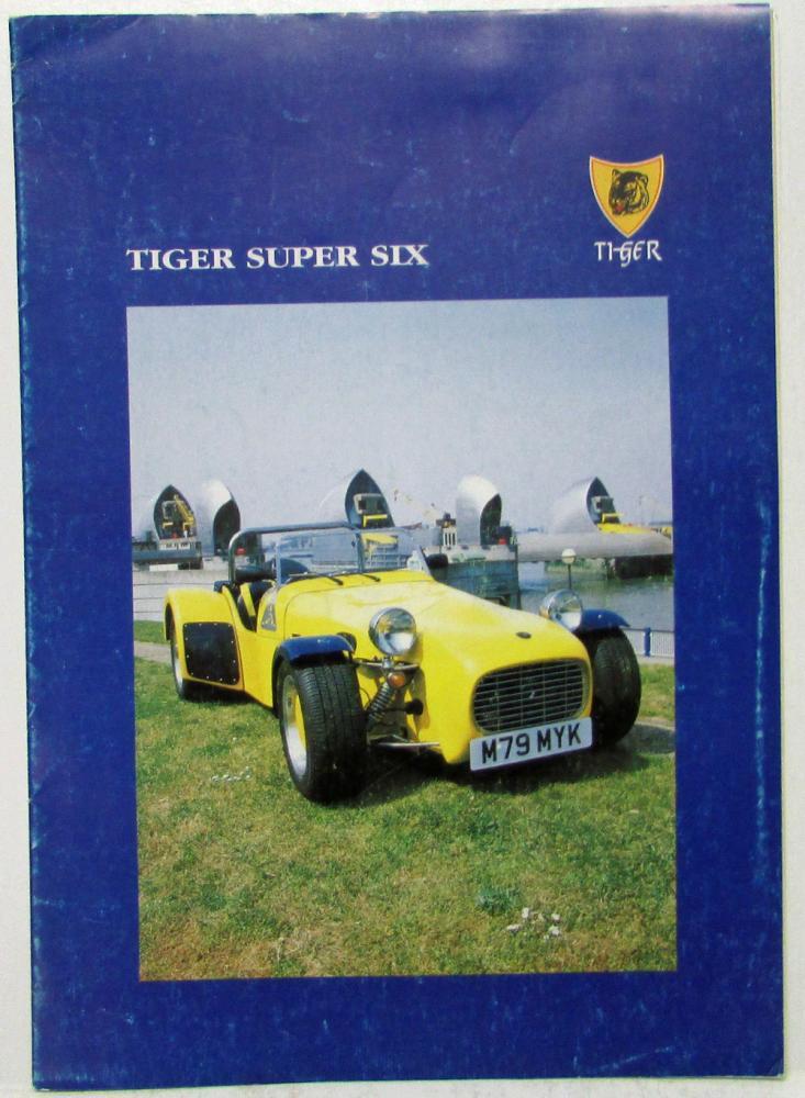 Tiger Super Six Race Sports Car ENGLAND Sales Folder & Photo Sheets ...