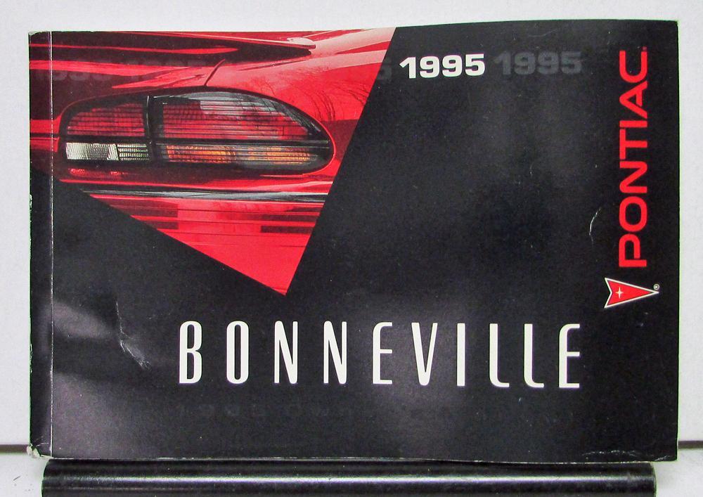 1995 pontiac bonneville operator owner manual original rh autopaper com 2000 Pontiac Bonneville 2007 Pontiac Bonneville