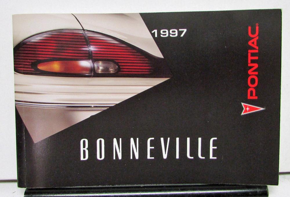 1997 pontiac bonneville operator owner manual original rh autopaper com 1993 Pontiac Bonneville 1993 Pontiac Bonneville