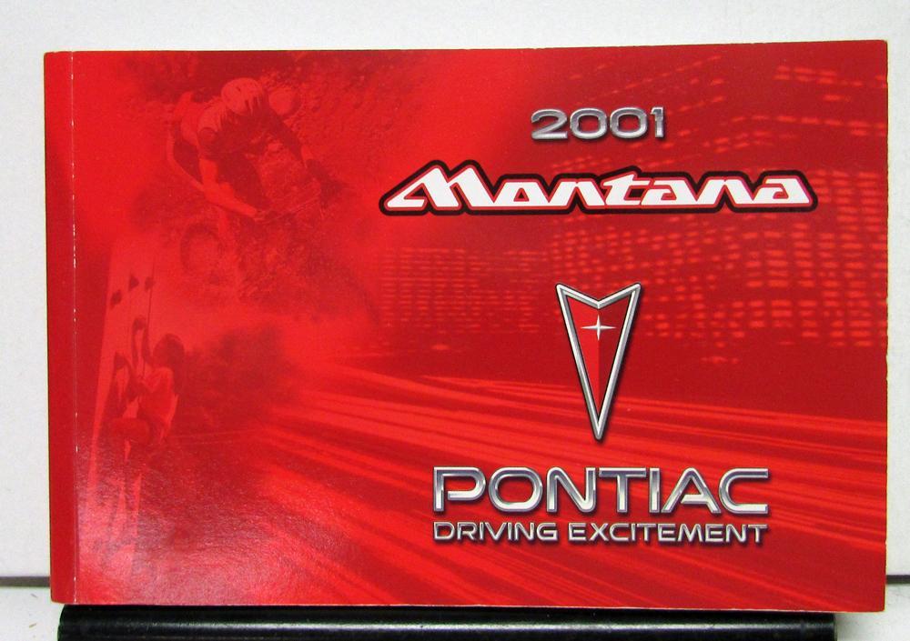 2001 pontiac montana operator owner manual original rh autopaper com Montana 2001 Sharpener Montana 2001 Sharpener
