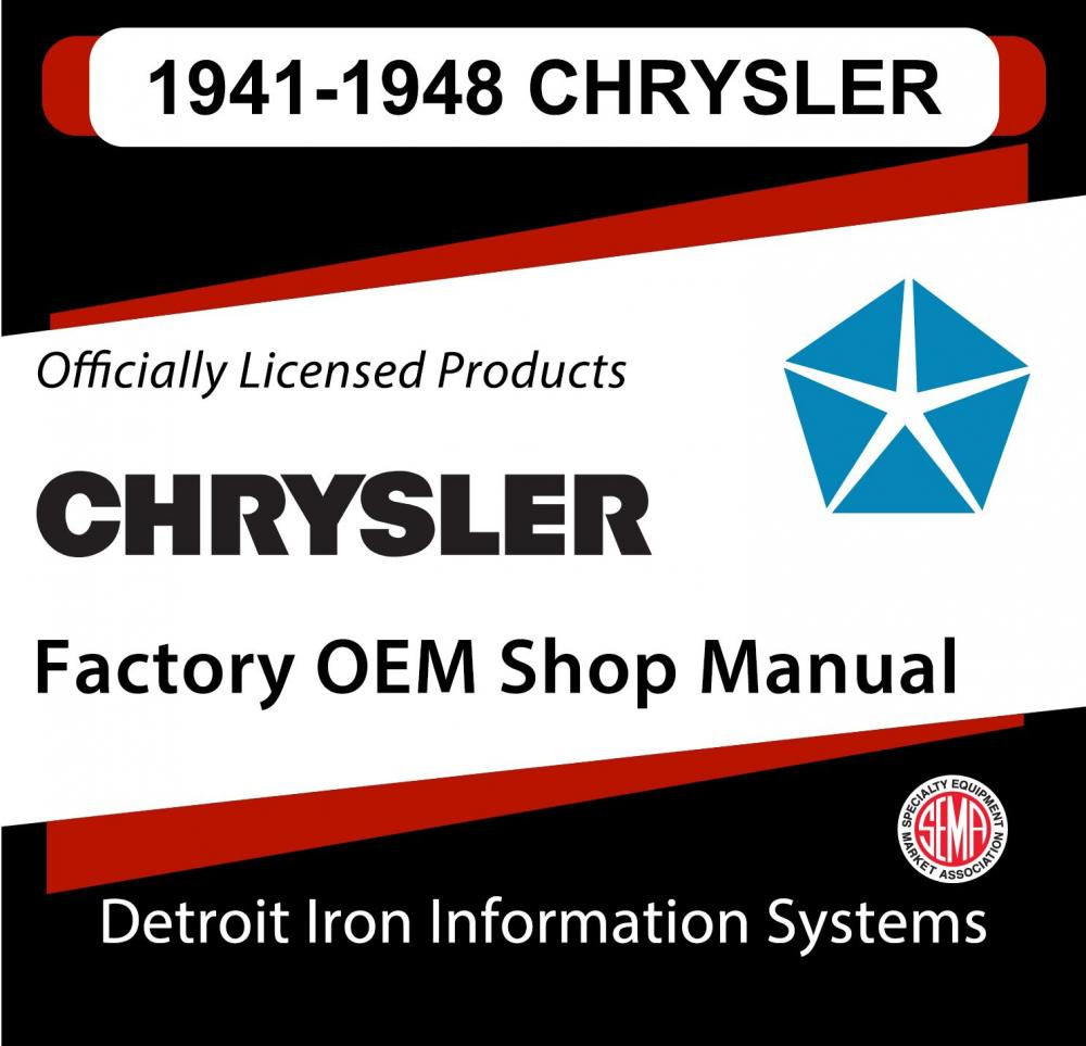 1941 1942 1946 1947 1948 Chrysler Imperial Shop Manual And Sales