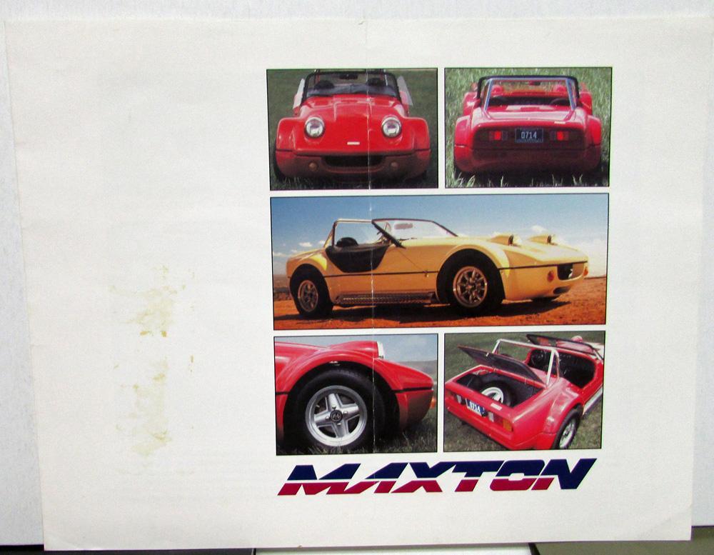1991 Maxton Rollerskate Component Kit Car Dealer Sales Brochure ...