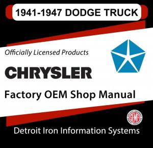 1941 1942 1946 1947 Dodge Light Duty Truck Shop Manual CD