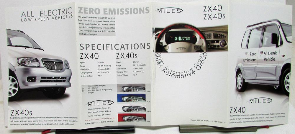 2004-2010 Miles ZX 40 S All Electric Low Speed Vehicles