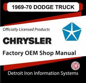 1969 Dodge Light Duty Truck Shop Manual & 1970 Supplement CD