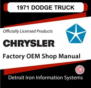 1971 Dodge Light Duty Truck Shop Manual CD
