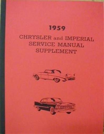 Chrysler Windsor Saratoga New Yorker Imperial Shop Service Repair - Chrysler shop
