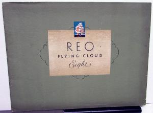 1931 REO Flying Cloud Eight Color Sales Brochure ORIGINAL