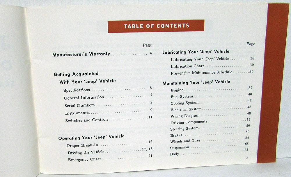 1962 1963 willys jeep gladiator j 200 300 4wd models owners manual original