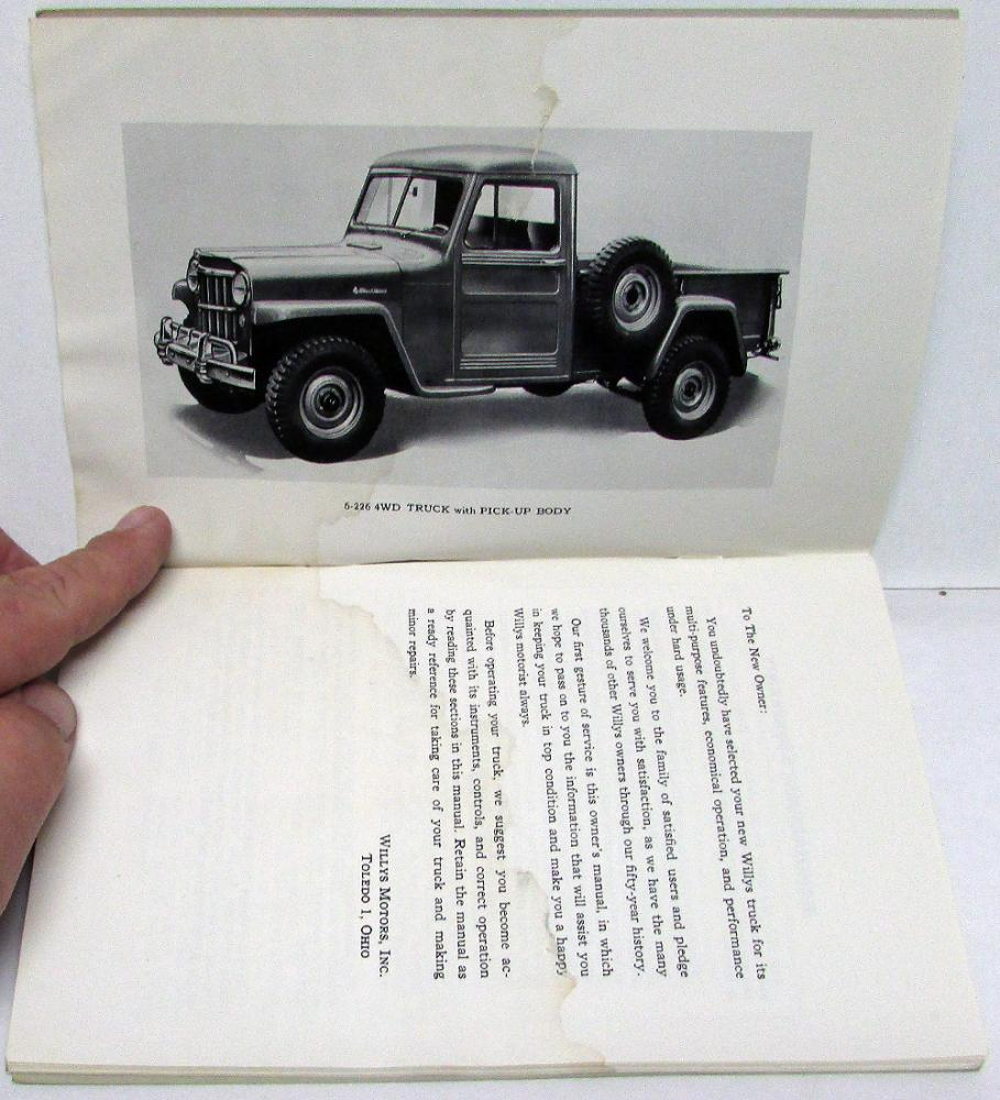 1946 Jeep Station Wagon User Manuals Repair