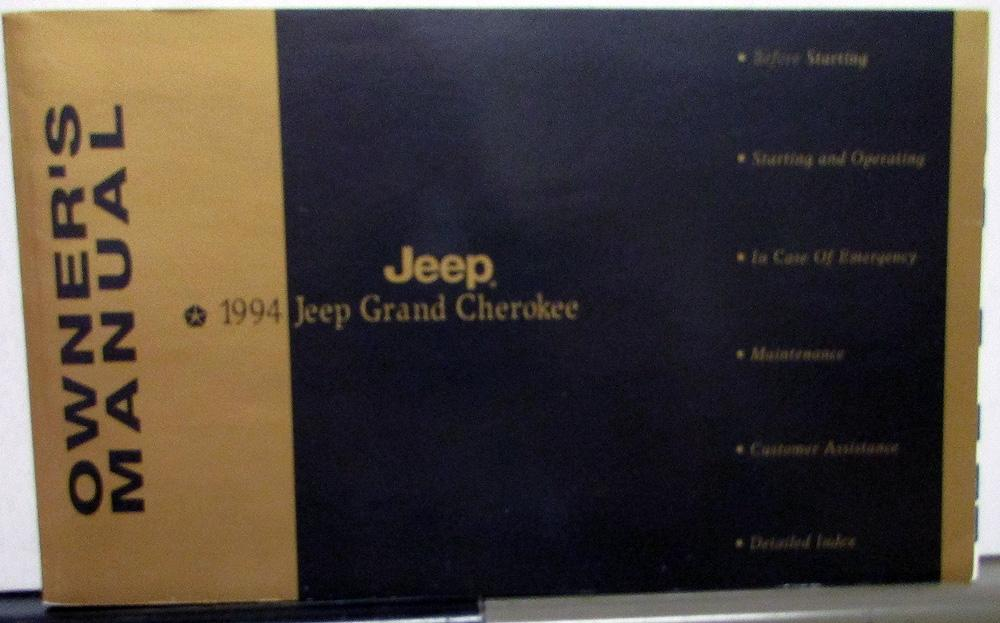 1994 chrysler jeep grand cherokee owners manual original rh autopaper com 1994 jeep grand cherokee repair manual pdf 1994 jeep grand cherokee owners manual free download
