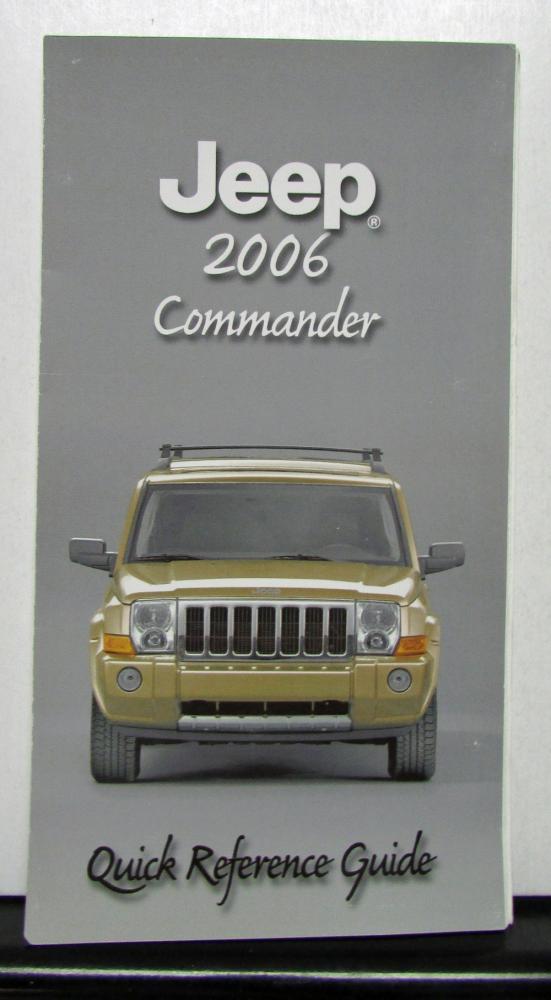 2006 daimlerchrysler jeep commander owners manual original rh autopaper com 2006 Jeep Commander Accessories 2006 Jeep Commander Shifter Bezel