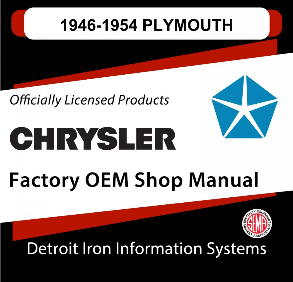 1946 1954 Plymouth Belvedere Shop Manual And Parts Book Sales 1951 Wiring Diagram Brochure Cd