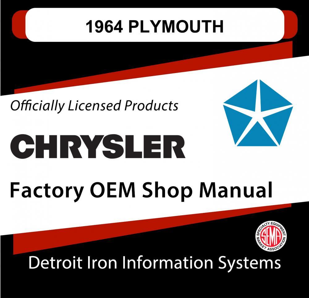 1964 Plymouth Barracuda Belvedere Fury Sport Savoy Valiant Shop Manual CD