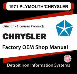 1971 Plymouth Chrysler Road Runner Cuda GTX New Yorker Newport Shop Manual CD