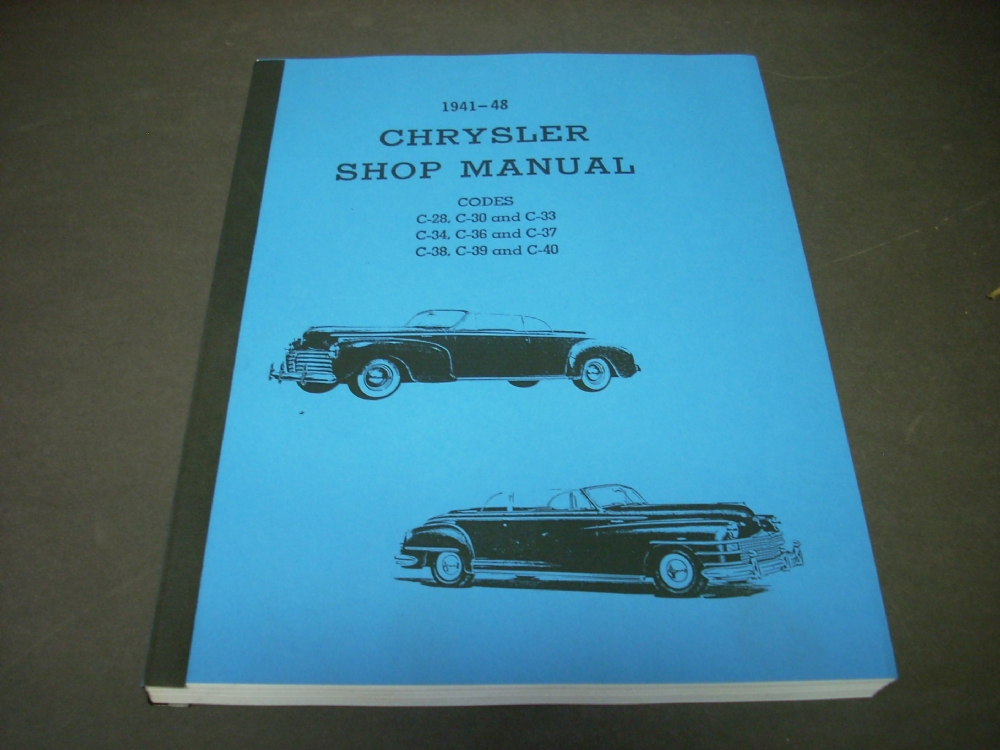 1941 1942 1946 1947 1948 Chrysler Shop Service Repair Manual