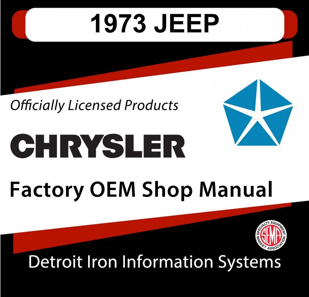 1973 Jeep Cj5 Cj6 Commando Wagoneer Truck Shop Manual Cd Alternator Wiring Diagram