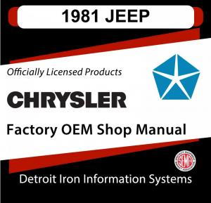 1981 Jeep Shop Manual Owners Manual & Tech Bulletins and Sales Brochure CDs
