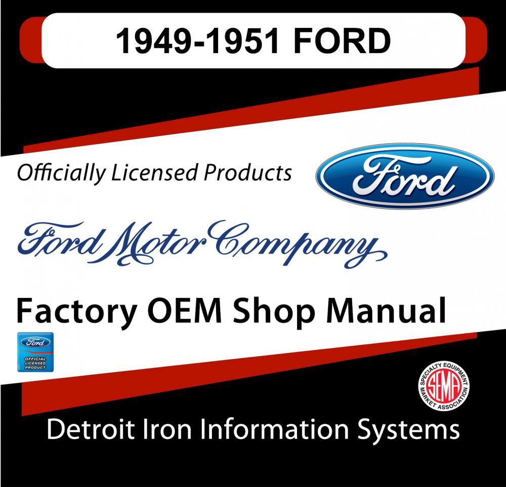 1949-1951 Ford Deluxe Crestline Ranch Victoria Shop Manuals & Parts Books CD