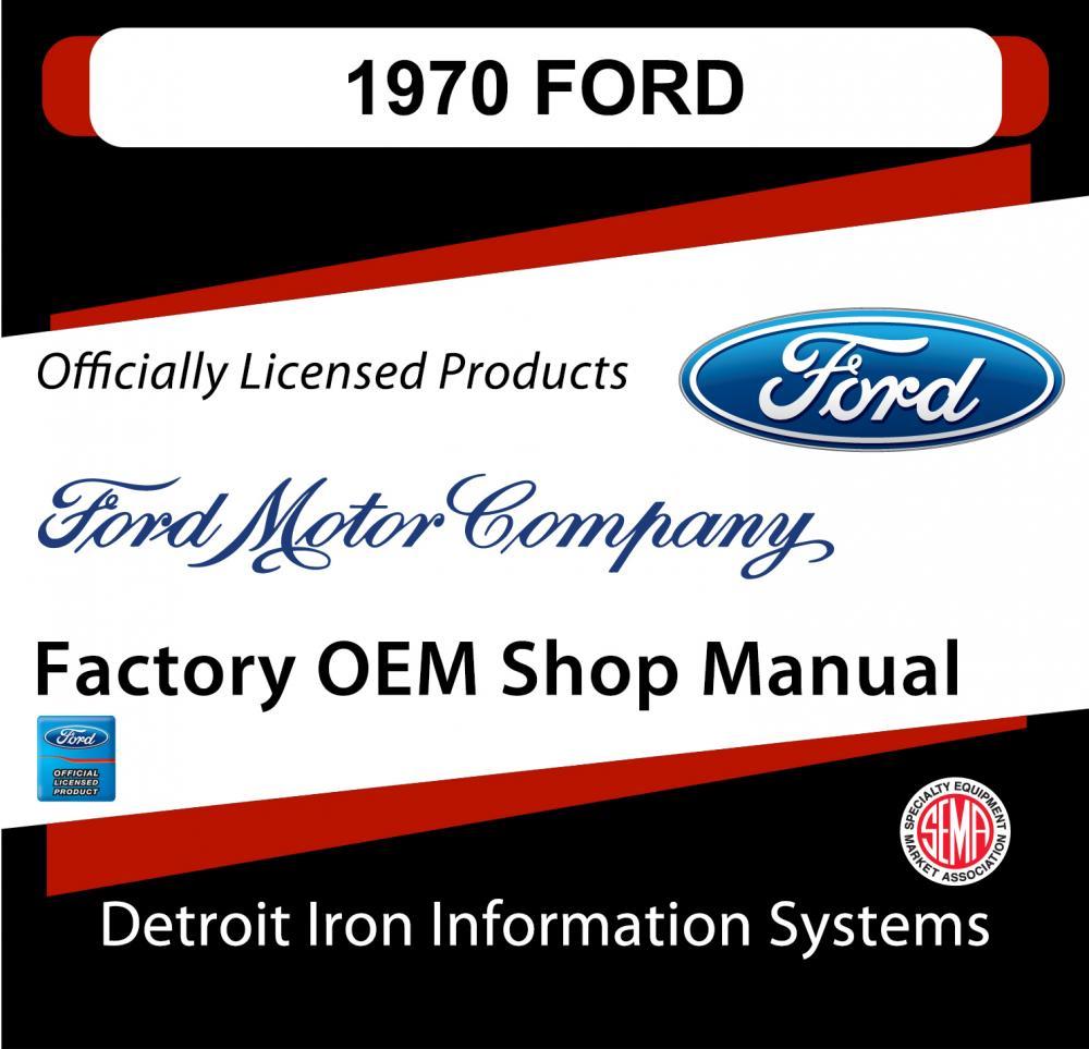 Ford Torino Super Cobra Jet Mustang Mach Boss Shop Manuals Parts Books Cd