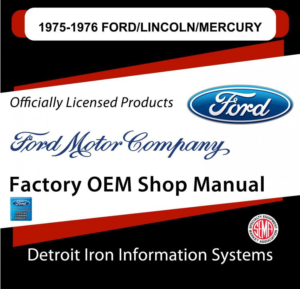 1975 1976 Ford Lincoln Mercury Ltd Mk Iv Comet Shop Manuals Sales 76 Ignition Wiring Diagram Brochures Cd