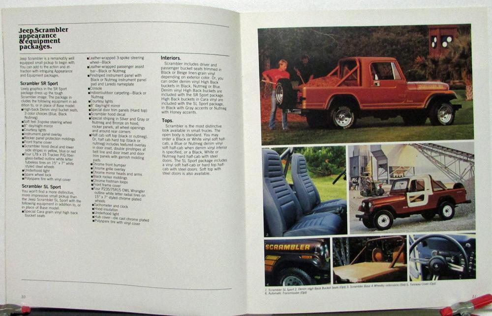 1983 Jeep CJ5 CJ7 Scrambler J10 J20 Cherokee Wagoneer Canadian Sales ...