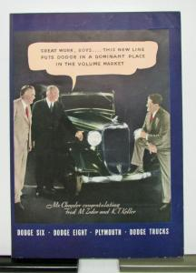 1933 Dodge Series Six Eight Plymouth Sales Brochure
