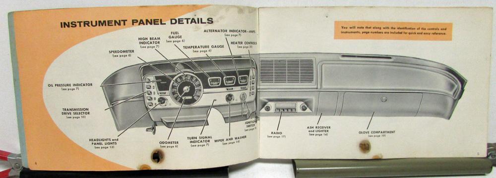 1962 dodge lancer owners manual care operation instructions original 1962 Dodge Lancer Interior