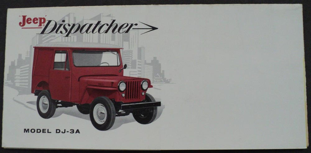 1961 Jeep Dispatcher Model Dj 3a Brochure Leaflet 4 Cyl L Head