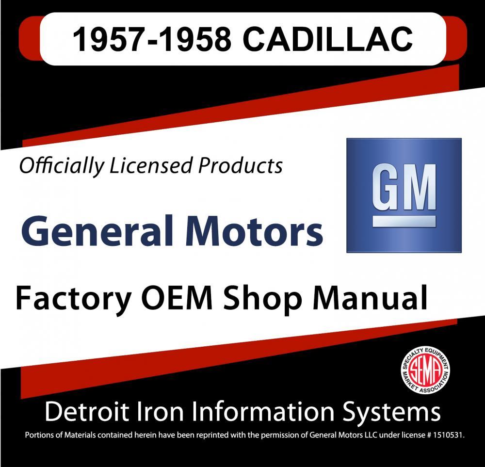 1957-1958 Cadillac Series 60 62 75 Fleetwood Shop Manuals & Parts