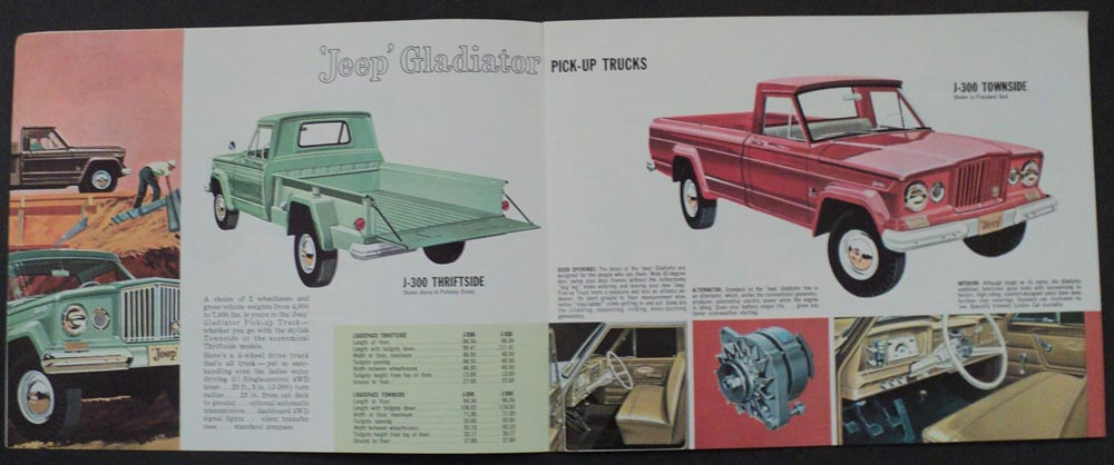 1962 Jeep Complete Line Original Sales Brochure Willys Overland Truck