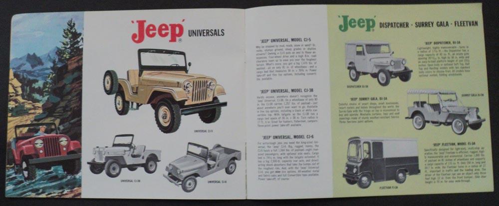 1962 Jeep Complete Line Original Sales Brochure Willys Overland Truck