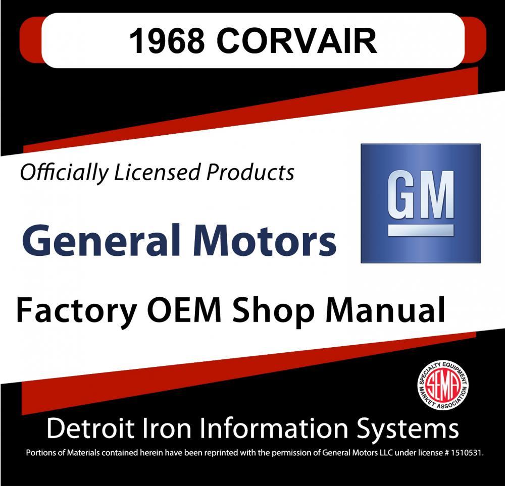 1968 Chevrolet Corvair Shop Manuals Parts Books Cd Wiring Diagram