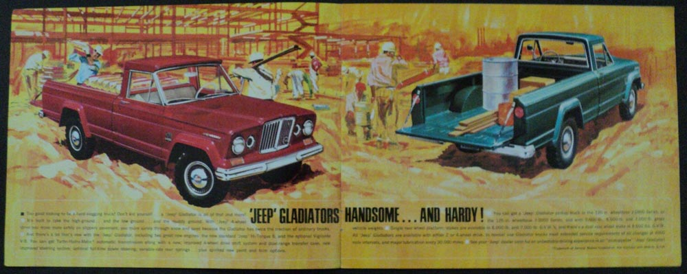 1965 Jeep Gladiator 2 and 4 WD Sales Brochure With Specifications Kaiser